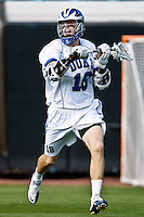 February 20, 2011:   Duke attack Jesse Fehr (18) during Lacrosse action between the Duke Blue Devils and Notre Dame Fighting Irish during the Moe's Southwest SunShine Classic played at EverBank Field in Jacksonville, Florida. Notre Dame defeated Duke 12-7.