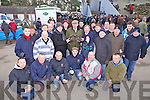 Lixnaw native Tom Murphy(centre) receives a presentation from members of Edenderry CC, Tom worked as a slipper with the club for over 30years, pictured here at the National Coursing Meeting in Clonmel on Wednesday.
