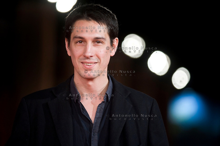 Rome, October 20, 2015. Pablo Aguero attends a red carpet for 'Eva Doesn't Sleep' during the 10th Rome Film Festival.