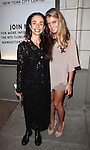 Alessandra Ferri & daughter attending the Broadway Opening Night Performance of 'An Enemy of the People' at the Samuel J. Friedman Theatre in New York. Sept. 27, 2012