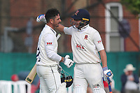 Neil Wagner (R) congratulates Ryan ten Doeschate of Essex on his century during Surrey CCC vs Essex CCC, Specsavers County Championship Division 1 Cricket at Guildford CC, The Sports Ground on 10th June 2017