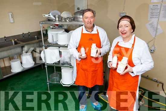 Willie and Norma Leahy of Carralea Dairy products make Calfir and yogurt in Moyvane.