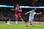 Sergio Aguero of Manchester City scores the second goal to equalise  - UEFA Champions League group E - Manchester City vs Bayern Munich - Etihad Stadium - Manchester - England - 25rd November 2014  - Picture Simon Bellis/Sportimage