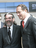 07/09/2010.Johnny Ronan & Treasurey Holdings Co Founder Richard barrett at.the opening of the Convention Centre in Spencers Dock,  Dublin..Photo: Gareth Chaney Collins