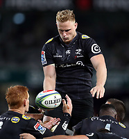 DURBAN, SOUTH AFRICA - JULY 14: Daniel Du Preez of the Cell C Sharks during the Super Rugby match between Cell C Sharks and Jaguares at Jonsson Kings Park on July 14, 2018 in Durban, South Africa. Photo: Steve Haag / stevehaagsports.com