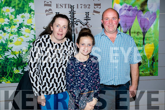 Honor and Sharon Enright pictured with Mike Enright, Castlemaine, who celebrated his birthday at Benners, Tralee  on Saturday night last.