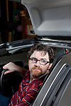 Ernie Cline, a sci-fi writer from Austin, Texas, fulfilled his childhood dream of owning a Delorean, the stainless steel panelled car featured in the Back to the Future trilogy...Ben Sklar for the Guardian Weekend Magazine