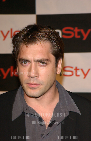 Actor JAVIER BARDEM at Hollywood art exhibition party for artist Bryten Goss, hoseted by InStyle Magazine..28JUN2001  © Paul Smith/Featureflash