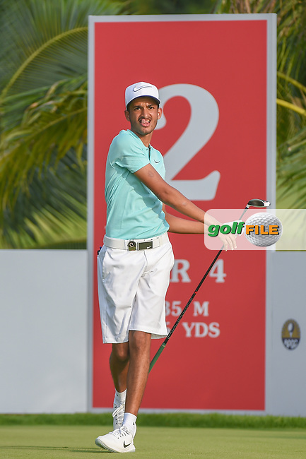 Saud ALSHARIF (KSA) watches his tee shot on 2 during Rd 1 of the Asia-Pacific Amateur Championship, Sentosa Golf Club, Singapore. 10/4/2018.<br /> Picture: Golffile | Ken Murray<br /> <br /> <br /> All photo usage must carry mandatory copyright credit (© Golffile | Ken Murray)