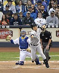 Masahiro Tanaka (Yankees),<br /> MAY 9, 2014 - MLB :<br /> Masahiro Tanaka of the New York Yankees at bat in the fourth inning during the Major League Baseball game against the Milwaukee Brewers at Miller Park in Milwaukee, Wisconsin, United States. (Photo by AFLO)