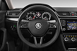 Car pictures of steering wheel view of a 2016 Skoda Superb Ambition 5 Door Hatchback Steering Wheel