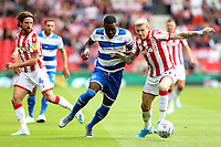Queens Park Rangers' Bright Osayi-Samuel and Stoke City's James McClean <br /> <br /> Photographer Stephen White/CameraSport<br /> <br /> The EFL Sky Bet Championship - Stoke City v Queens Park Rangers - Saturday 3rd August 2019 - bet365 Stadium - Stoke-on-Trent<br /> <br /> World Copyright © 2019 CameraSport. All rights reserved. 43 Linden Ave. Countesthorpe. Leicester. England. LE8 5PG - Tel: +44 (0) 116 277 4147 - admin@camerasport.com - www.camerasport.com