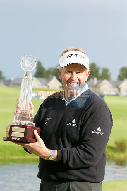 Day 4 of the Smurfit Kappa European Open in the K Club in Straffin Co Kildare Ireland. 8/7/07.Colin Montgomerie winner of the Smurfit Kappa European Open...Photo: Newsfile/Fran Caffrey.