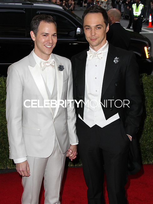 "NEW YORK CITY, NY, USA - MAY 05: Todd Spiewak, Jim Parsons at the ""Charles James: Beyond Fashion"" Costume Institute Gala held at the Metropolitan Museum of Art on May 5, 2014 in New York City, New York, United States. (Photo by Xavier Collin/Celebrity Monitor)"