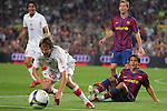 Bojan gets a yellow card after committing a foul. Barcelona v Osasuna (0-1), La Liga, Nou Camp, Barcelona, 23rd May 2009.