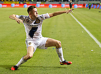 CARSON, CA - November 11, 2012: LA Galaxy forward Robbie Keane (7) celebrates his goal during the LA Galaxy vs the Seattle Sounders at the Home Depot Center in Carson, California. Final score LA Galaxy 3, Seattle Sounders 0.