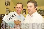 "Jerry Kennelly and Jerry Clifford, pictured at the launch of their book """"Entrepreneurship Made Simple"" in Falveys Bar, Killorglin on Friday night.   Copyright Kerry's Eye 2008"