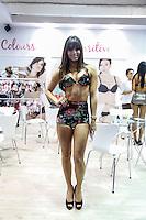 SAO PAULO, SP, 16 DE JUNHO DE 2013.  SALAO MODA BRASIL. Modelos no Salão Internacional de Moda Intima, Praia, Fitness, textil e aviamento, o Salão Moda Brasil acontece em São Paulo no Expo Center Norte. Durante a feira são apresentadas as novidades do setor. FOTO ADRIANA SPACA/BRAZIL PHOTO PRESS