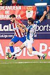 Yannick Ferreira Carrasco of Atletico de Madrid fights for the ball with Victor Sanchez Mata of RCD Espanyol during the La Liga match between Atletico de Madrid and RCD Espanyol at the Vicente Calderón Stadium on 03 November 2016 in Madrid, Spain. Photo by Diego Gonzalez Souto / Power Sport Images