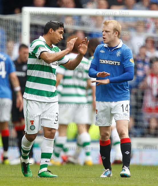 Steven Naismith telling Emilio Izaguirre to wrap the nonsense