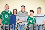 Irish rugby international Felix Jones with Anthony and Sonia O'Sullivan, Johnny Clifford and Johnny Clifford Killarney at the Irish/Wales game in the INEC on Saturday morning..
