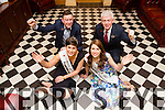 Rose of Tralee Maria Walsh and Kerry Rose  Mary Hickey with John Collins and Mark Sullivan of Ballyroe Heights Hotel Launch the 2015 Kerry rose selection