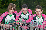 SUCCESS: Killarney cyclists who won trophies at the Irish Down Hill Championships held in Newry last weekend, l-r: Conor ONeill, Robert Duggan and Tanyan Lewis..