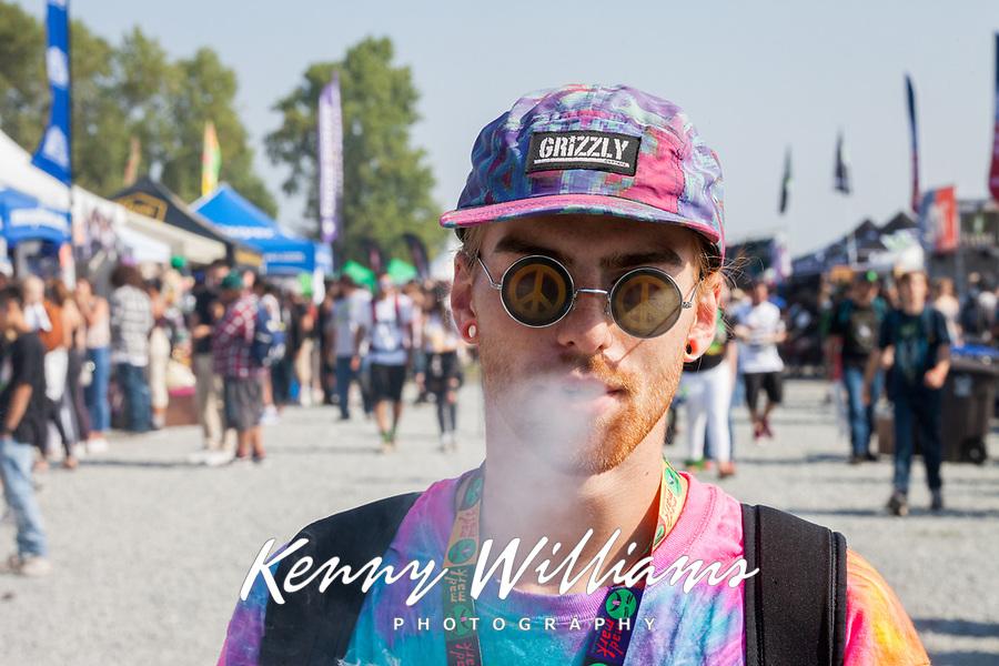 Dylan Smoking a Joint, Hempfest Seattle, Washington, USA.