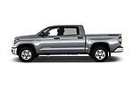 Car driver side profile view of a 2020 Toyota Tundra SR5 5.7L Crew Max 4WD Short Bed 4 Door Pick Up