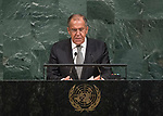 72 General Debate – 20 September <br /> <br /> Sergey Lavrov  Russian FM