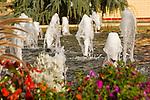Penn College Fountain garden.