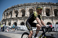 at the race start in front of the Arena in Nîmes<br /> <br /> Stage 16: Nîmes to Nîmes (177km)<br /> 106th Tour de France 2019 (2.UWT)<br /> <br /> ©kramon
