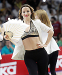 Real Madrid's cheerleaders during Liga Endesa ACB 2nd Final Match.June 21,2015. (ALTERPHOTOS/Acero)