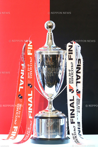 J/League Yamazaki Nabisco Cup Trophy,<br /> FEBRUARY 19, 2015 - Football / Soccer : <br /> 2015 J.LEAGUE Press Conference <br /> at Grand Prince Hotel Shin-Takanawa, Tokyo, Japan. <br /> (Photo by Shingo Ito/AFLO SPORT)