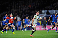 George Ford of England finds clear space and scores a try under the posts