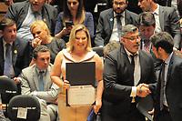 SÃO PAULO,SP,18.12.2018 - DIPLOMAÇÃO-SP - Joice Hasselmann durante cerimonia de diplomação dos candidatos eleitos para assumir o cargo em janeiro 2019. A cerimonia foi realizada na sala Sao Paulo nesta terça-feira, 18.(Foto Dorival Rosa/Brazil Photo Press)