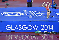 Wales' Sally Peake who claimed a silver medal in the women's pole vault competition.  <br /> <br /> Photographer Chris Vaughan/CameraSport<br /> <br /> 20th Commonwealth Games - Day 10 - Saturday 2nd August 2014 - Athletics - Hampden Park - Glasgow - UK<br /> <br /> © CameraSport - 43 Linden Ave. Countesthorpe. Leicester. England. LE8 5PG - Tel: +44 (0) 116 277 4147 - admin@CameraSport.com - www.CameraSport.com