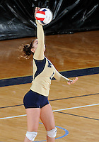 Florida International University women's volleyball player Silvia Carli (9) plays against the University of South Alabama.  FIU won the match 3-0 on October 30, 2011 at Miami, Florida. .