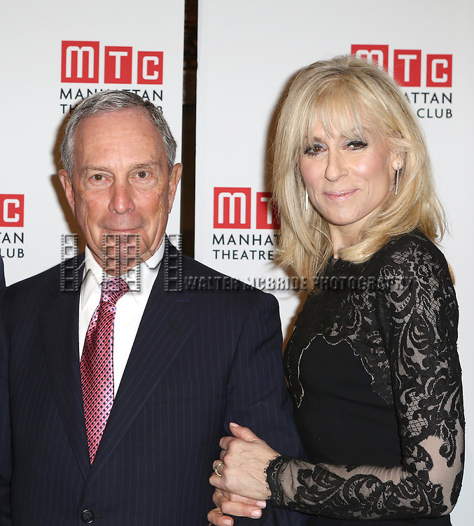 Michael Bloomberg and Judith Light attending the Manhattan Theatre Club's 2014 Spring Gala at Cipriani 42nd Street on May 19, 2014 in New York City.