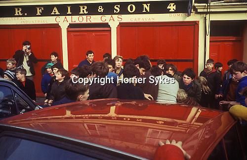 Jedburgh Hand Ball game Hand Ba game 1970s Scotland 1971 or 1972