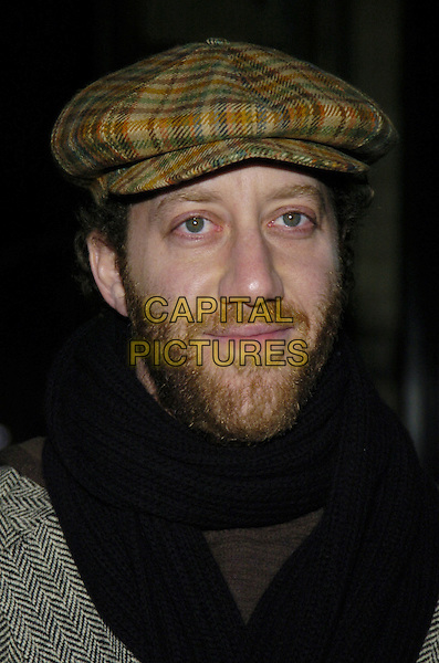 "JOEY SLOTNICK.Premiere of ""Fired!"" at the Village East Theater, New York, New York, USA..January 24th, 2007.headshot portrait beard facial hair brown plaid flat cap hat.CAP/ADM/BL.©Bill Lyons/AdMedia/Capital Pictures *** Local Caption ***"