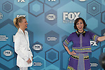 January Jones & Kristen Schaal - The Last Man on Earth  - Fox Upfronts - May 16, 2016 at Wollman Rink, Central Park, New York City, New York. (Photo by Sue Coflin/Max Photos)