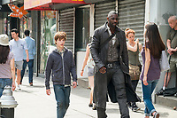 The Dark Tower (2017) <br /> Roland (Idris Elba) and Jake (Tom Taylor)<br /> *Filmstill - Editorial Use Only*<br /> CAP/KFS<br /> Image supplied by Capital Pictures