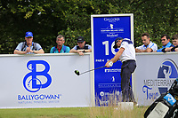 Stuart Manley (WAL) tees off the 16th tee during Sunday's Final Round of the Northern Ireland Open 2018 presented by Modest Golf held at Galgorm Castle Golf Club, Ballymena, Northern Ireland. 19th August 2018.<br /> Picture: Eoin Clarke | Golffile<br /> <br /> <br /> All photos usage must carry mandatory copyright credit (&copy; Golffile | Eoin Clarke)
