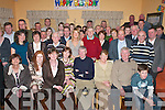 BIRTHDAY WISHES: Friends and family of Paddy Herlihy, Ballymac (seated fifth from left) who gathered in ORiadas Bar, Ballymac, last Saturday to celebrate his 60th birthday..