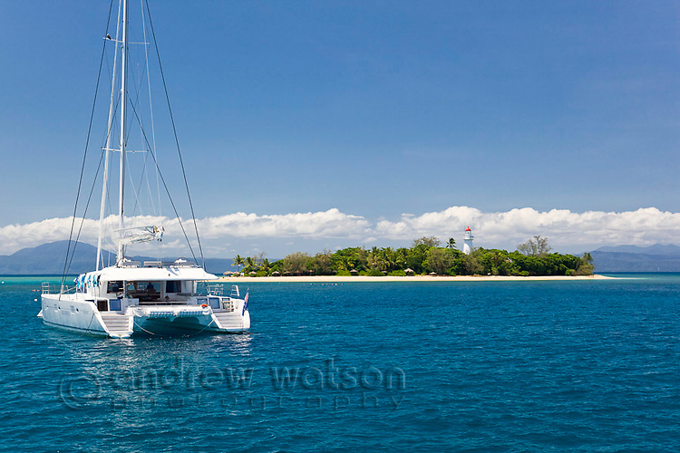 Sailboat at Low Isles, Port Douglas, Queensland, Australia