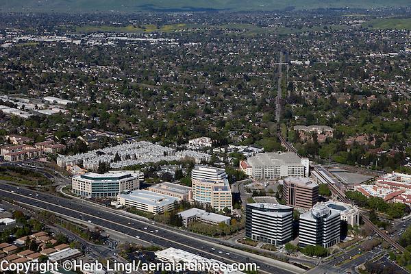 aerial photograph Walnut Creek, Contra Costa County, California