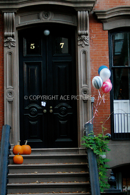 WWW.ACEPIXS.COM . . . . .  ....October 28 2010, New York City....Actress Sarah Jessica Parker's house decorated for her son James' birthday and halloween in her West Village neighborhood on October 28 2010 in New York City....Please byline: NANCY RIVERA- ACEPIXS.COM.... *** ***..Ace Pictures, Inc:  ..Tel: 646 769 0430..e-mail: info@acepixs.com..web: http://www.acepixs.com