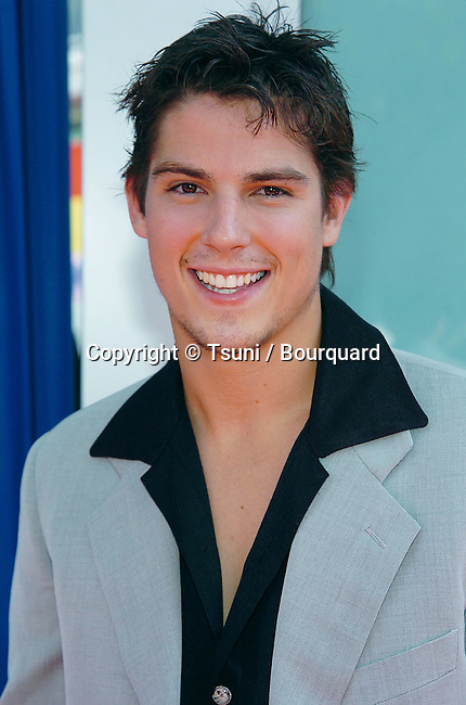Sean Faris arriving at the Sleepover Premiere at the Arclight Theatre in Los Angeles. June 27, 2004.