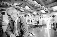 Antonino Zichichi is an Italian physicist who has worked in the field of nuclear physics. Erice 20 agosto 1985. © Leonardo Cendamo